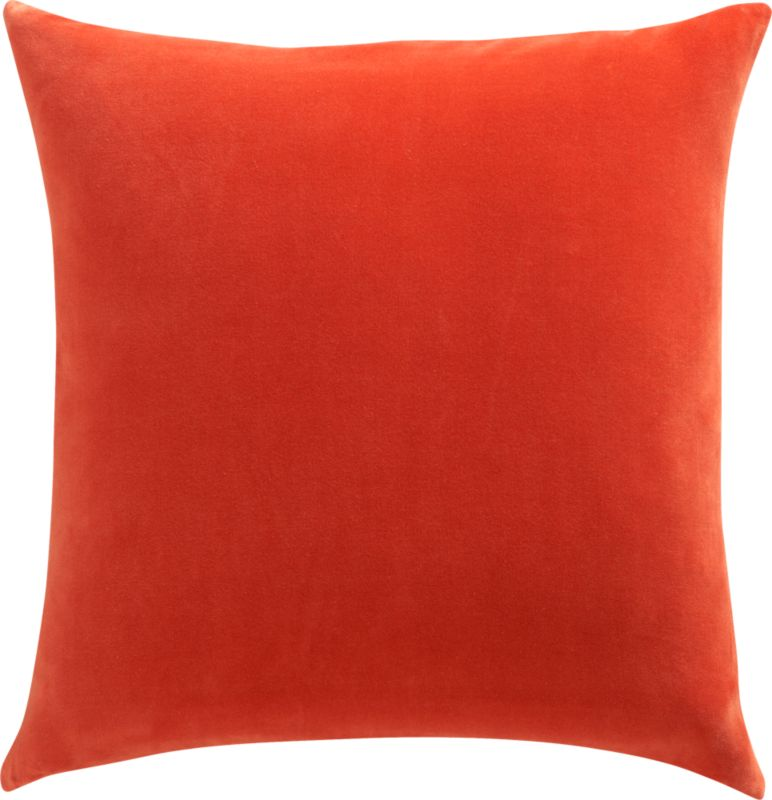 "leisure burnt orange 23"" pillow"