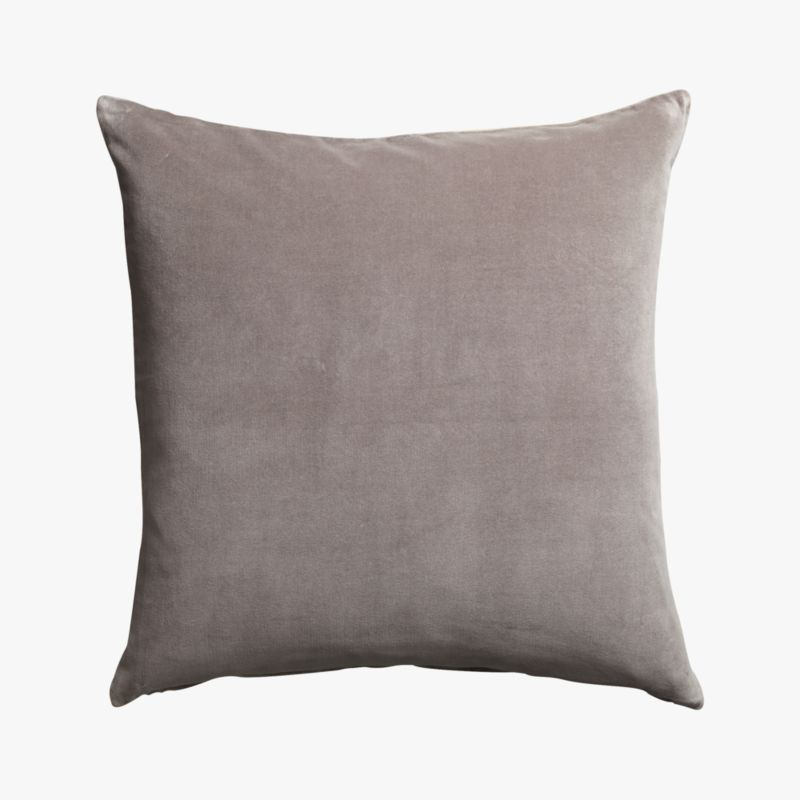 """leisure grey 23"""" pillow with feather insert"""