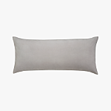 "leisure silver grey 36""x16"" pillow with feather-down insert"