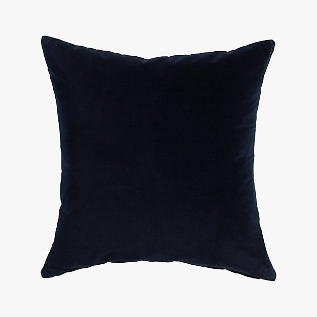 "leisure navy 23"" pillow with down-alternative insert"