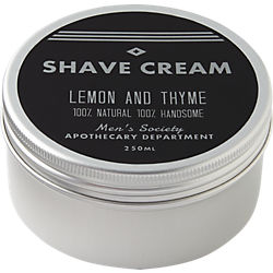 men's society lemon and thyme shave cream