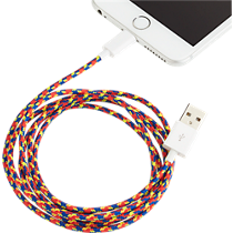 usb lightning red cable