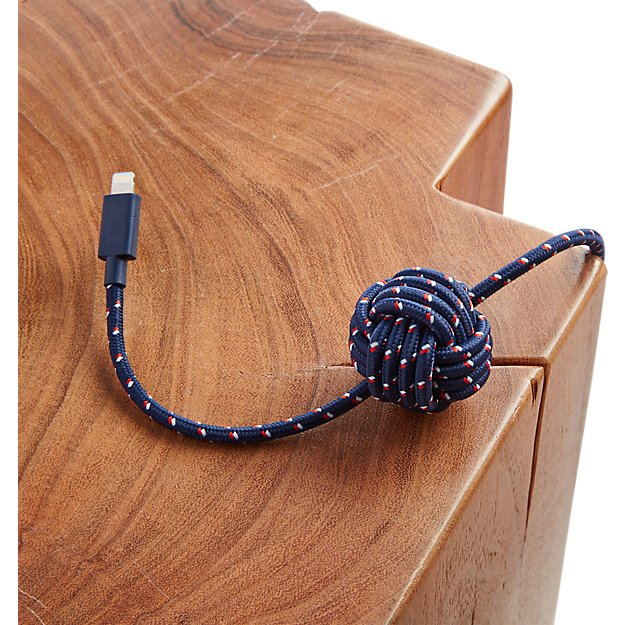 usb lightning night navy cable