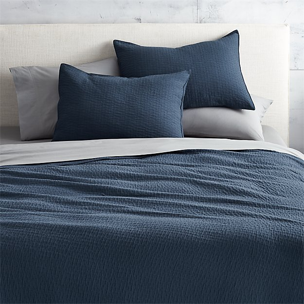 lilo navy king coverlet
