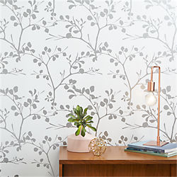 lilt silver self-adhesive wallpaper