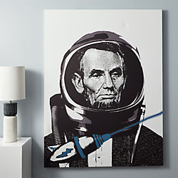lincoln spaceman print