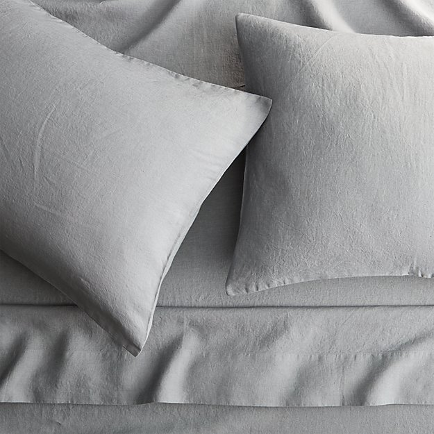 linen cement queen sheet set