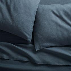 linen navy sheet sets
