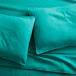 linen teal sheet sets