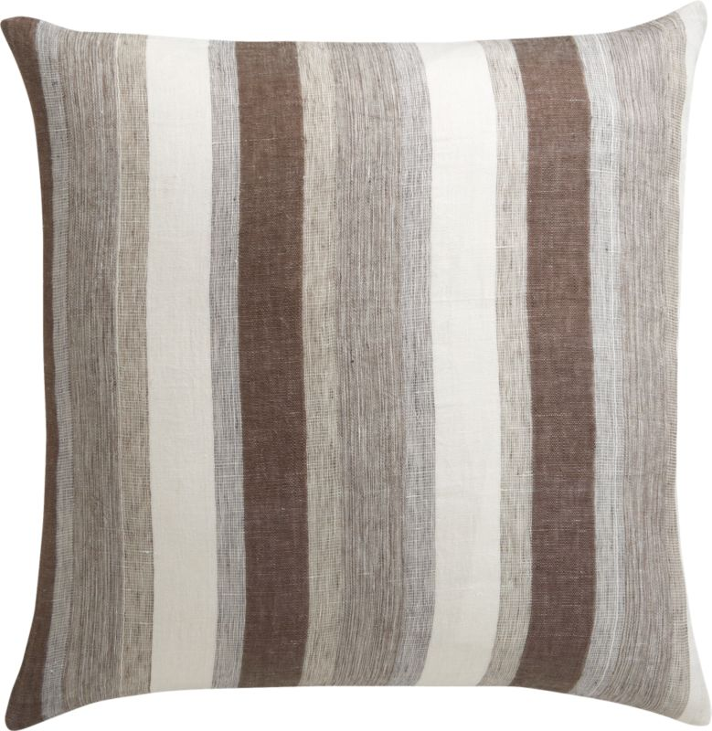 "linen tall stripe 23"" pillow"