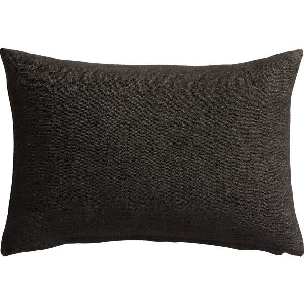 "linon dark grey 18""x12"" pillow"