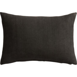"linon dark grey 18""x12"" pillow"