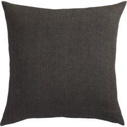"""linon dark grey 20"""" pillow"""