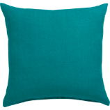 "linon teal 20"" pillow with feather insert"