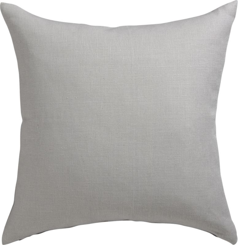 Linon Grey 20 Quot Pillow With Down Alternative Insert Cb2
