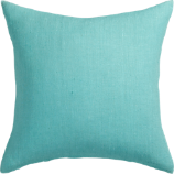 "linon aqua 20"" pillow with down-alternative insert"