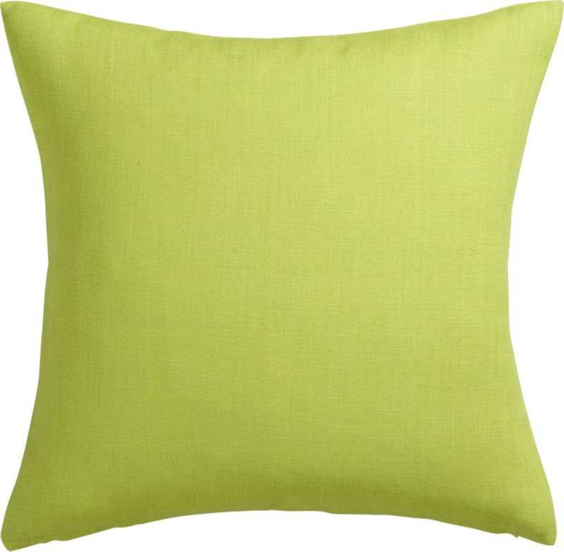"linon sour apple 20"" pillow with down-alternative insert"