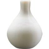 little white one glass vase
