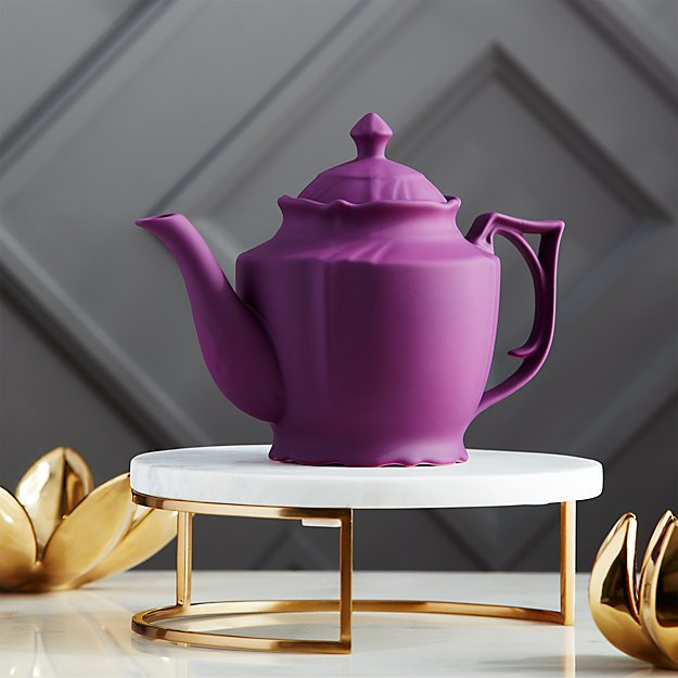 lizzy royal purple teapot