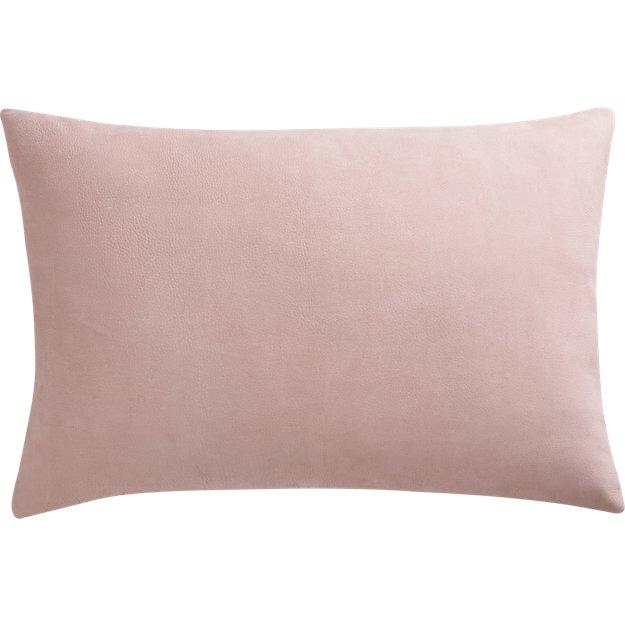 "loki blush leather 18""x12"" pillow"