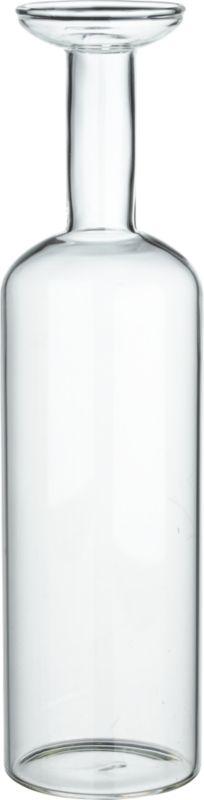 "<span class=""copyHeader"">premium bottle.</span> Blown to sculptural form by an artisan glassmaker, clear beaker glass bottle elevates blooms and botanicals.<br /><br /><NEWTAG/><ul><li>Handmade</li><li>Borosilicate (""beaker"") glass</li><li>Water-tight</li><li>Hand wash</li></ul>"