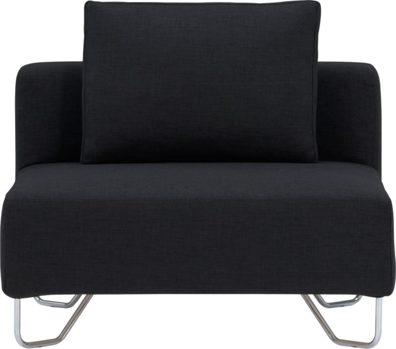 lotus antrazit armless chair