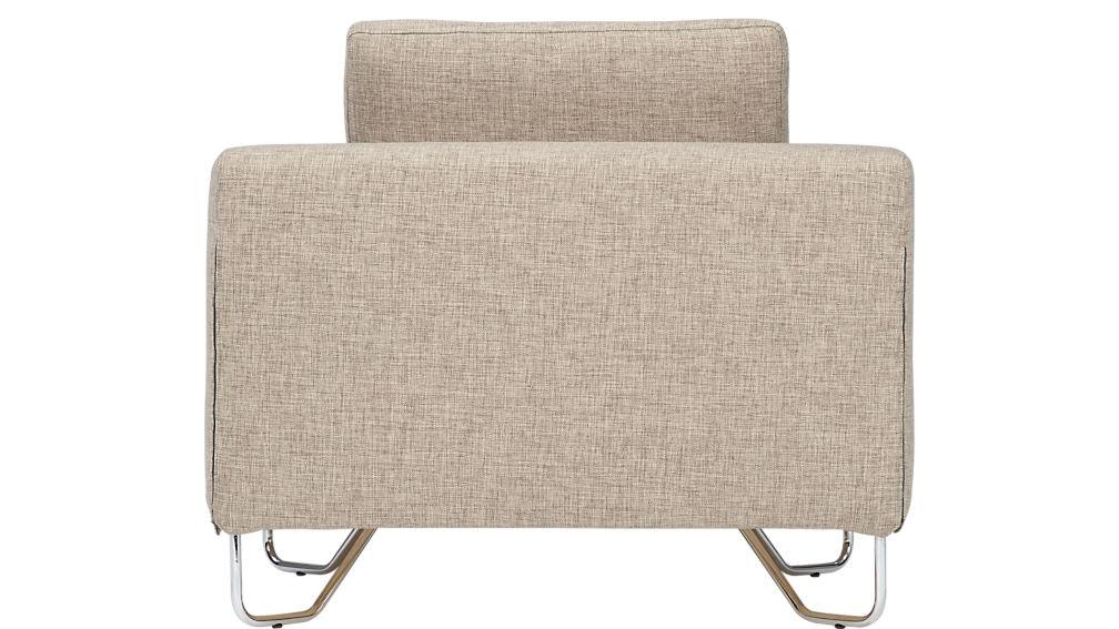 lotus natural armless chair