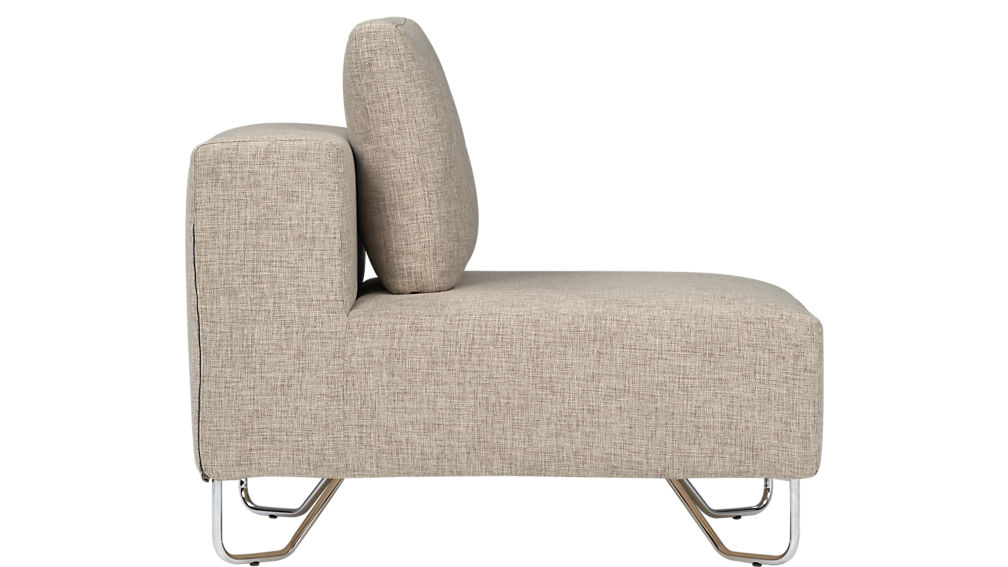 lotus natural armless chair