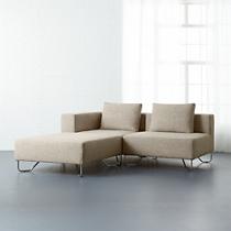 lotus 3-piece natural sectional sofa