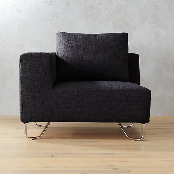 Lotus Antrazit Corner Chair Cb2