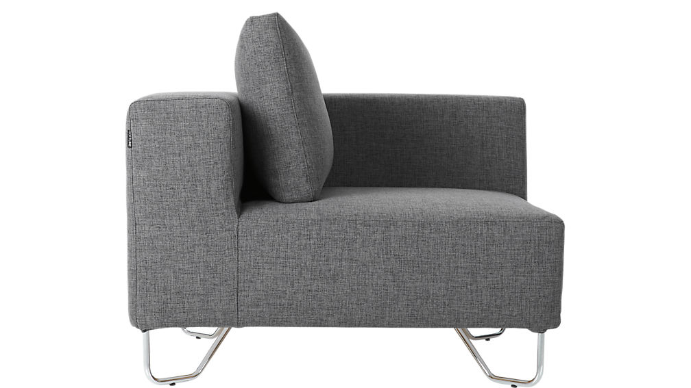lotus grey corner chair
