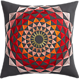 "lotus embroidered 18"" pillow"