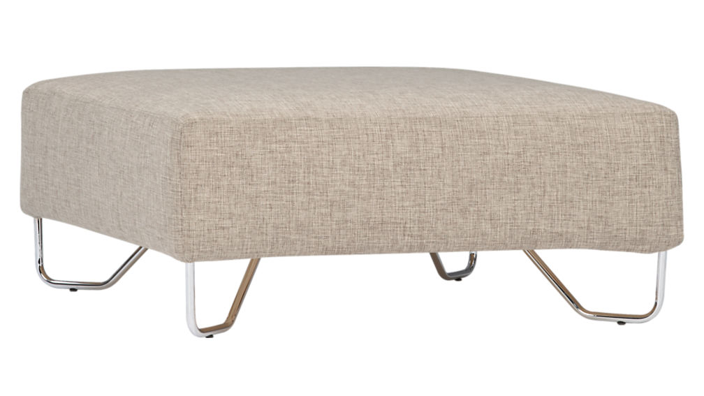 lotus natural ottoman