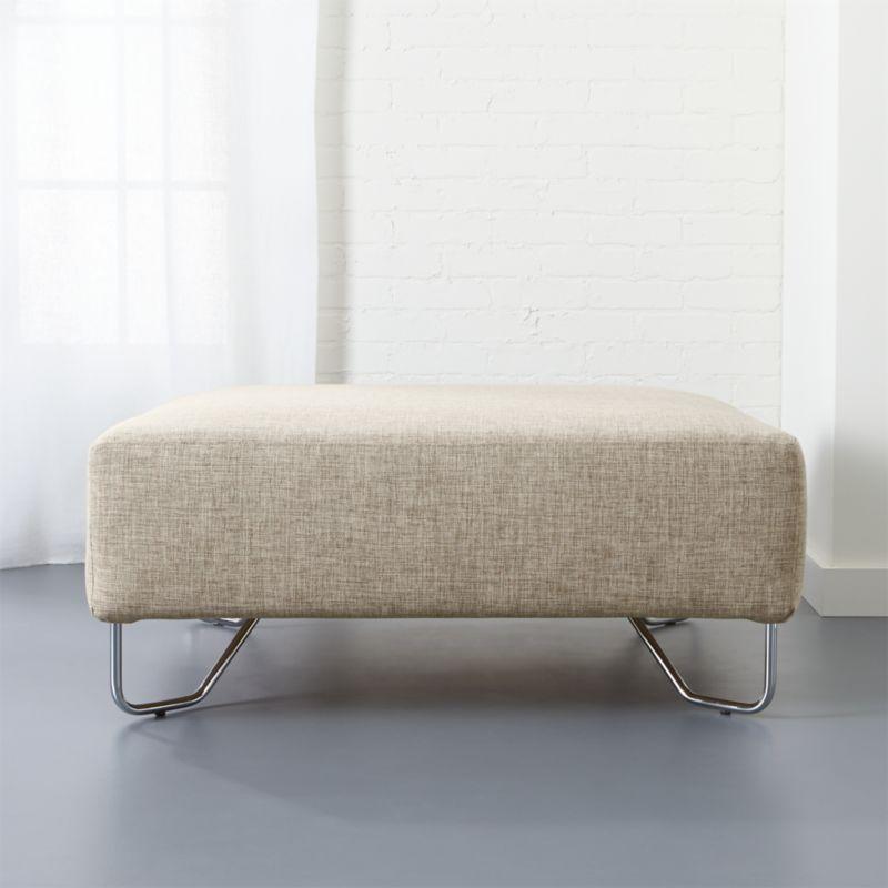 lotus natural ottoman bedroom furniture cb2 peg