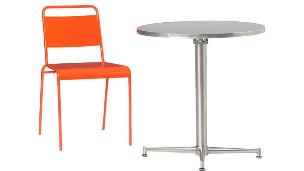 lucinda orange stacking chair