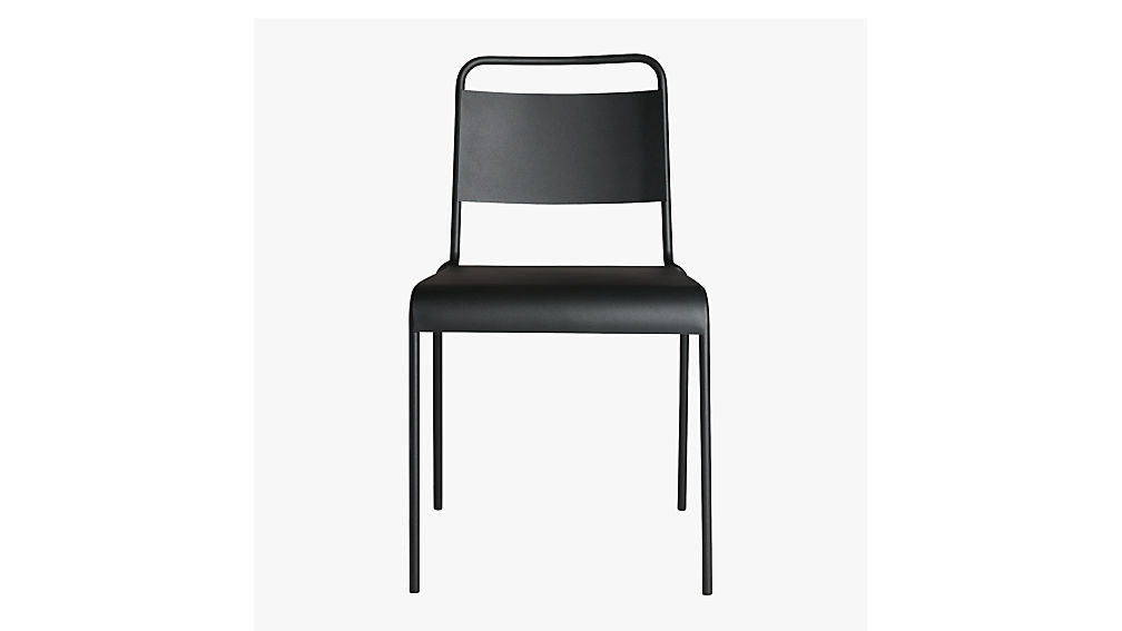 lucinda black stacking chair