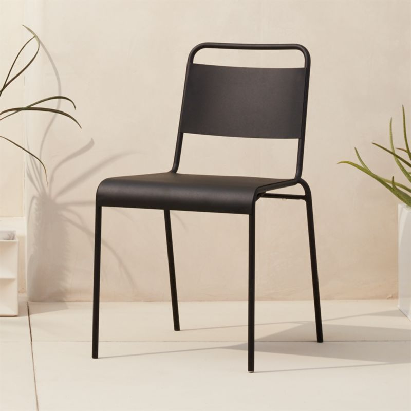 Lucinda Black Stacking Chair Cb2