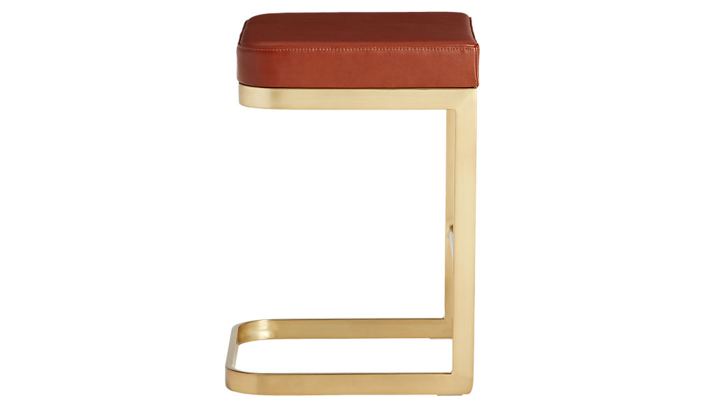 "mack leather 24"" counter stool"