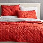 mahalo red-orange full/queen quilt.