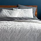 mahalo white full/queen quilt.