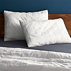 set of two standard mahalo white shams.