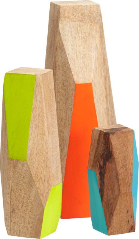 3-piece mango wood guardian set