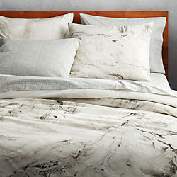 marbleized bed linens
