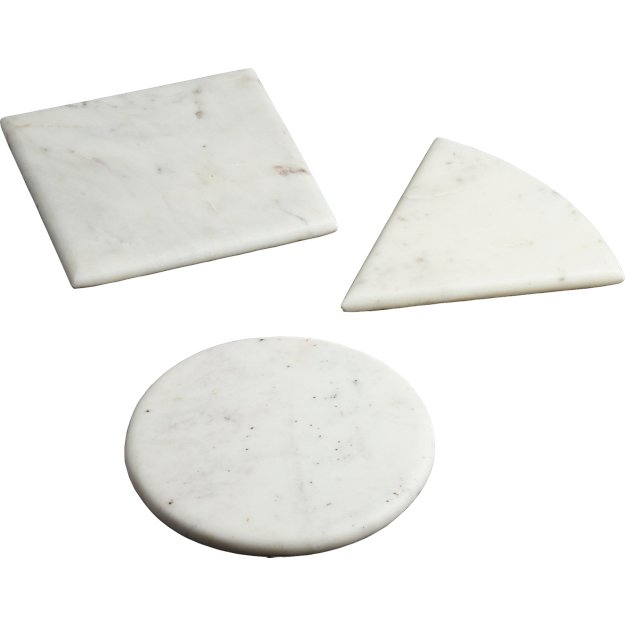 3-piece marble cheese server set