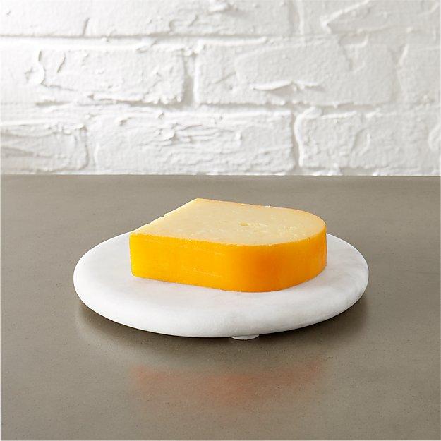 round marble cheese server