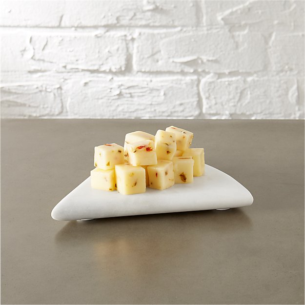 triangle marble cheese server