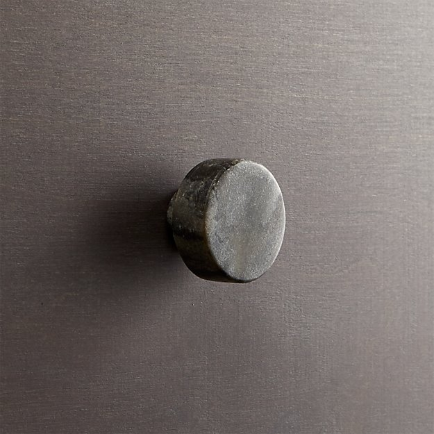 marble grey disk drawer pull