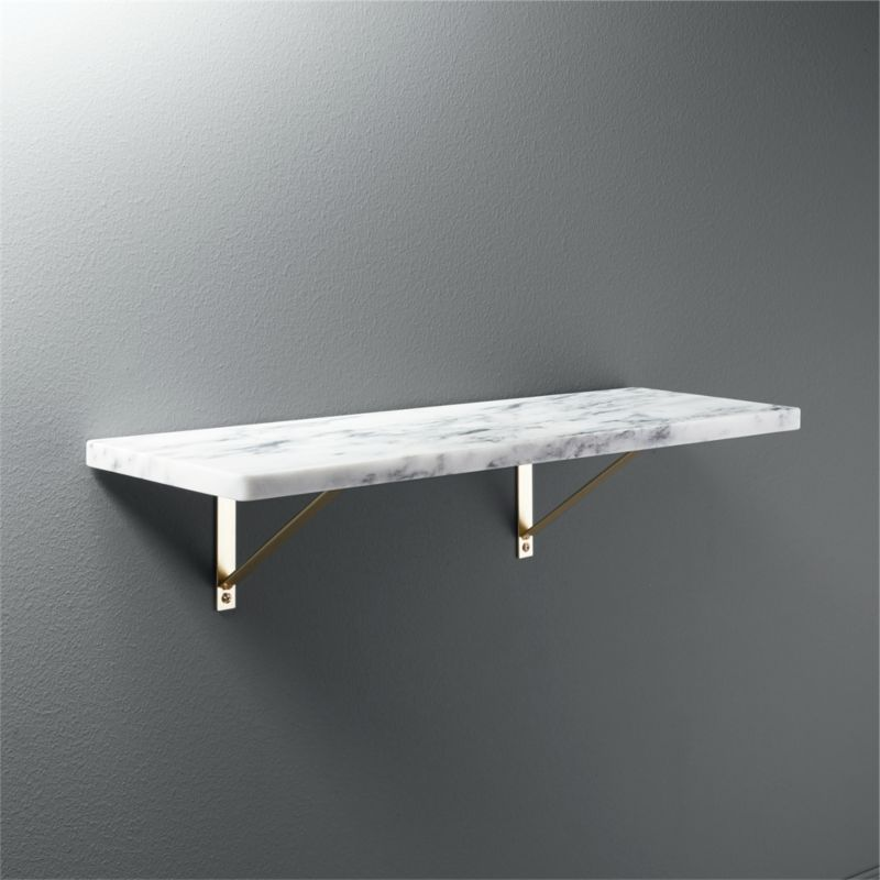 marble wall-mounted shelf