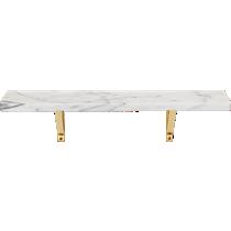 marble wall-mounted shelf