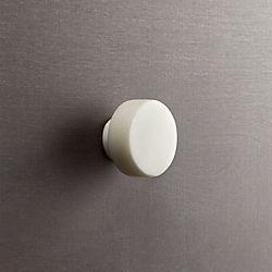 marble white disk knob